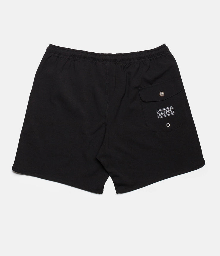 RHYTHM BLACK LABEL BEACH SHORT BLACK BACK