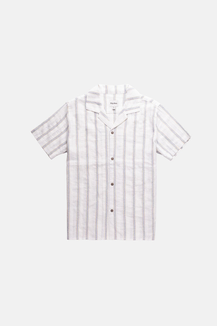 Vacation Stripe Ss Shirt White