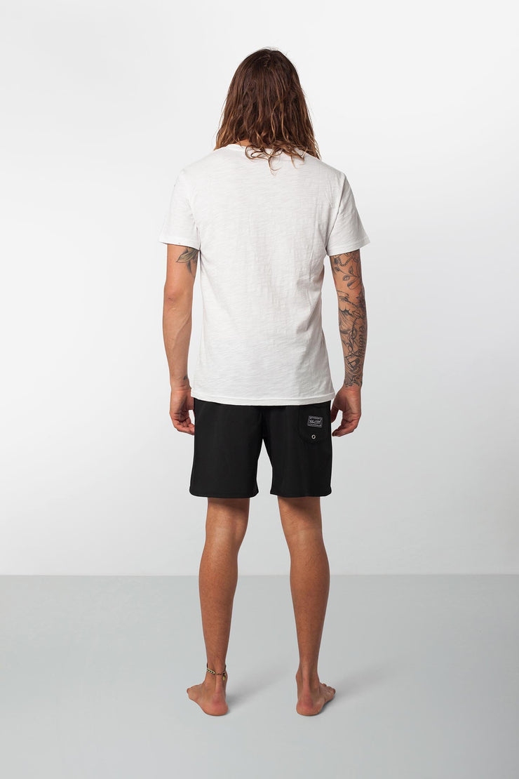 Rhythm Black Label Beach Short Black Model Back