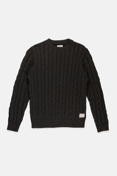 FISHERMAN KNIT CHARCOAL