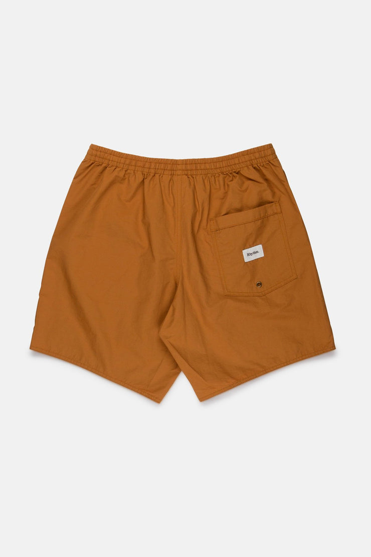 NYLON BEACH SHORT TOBACCO