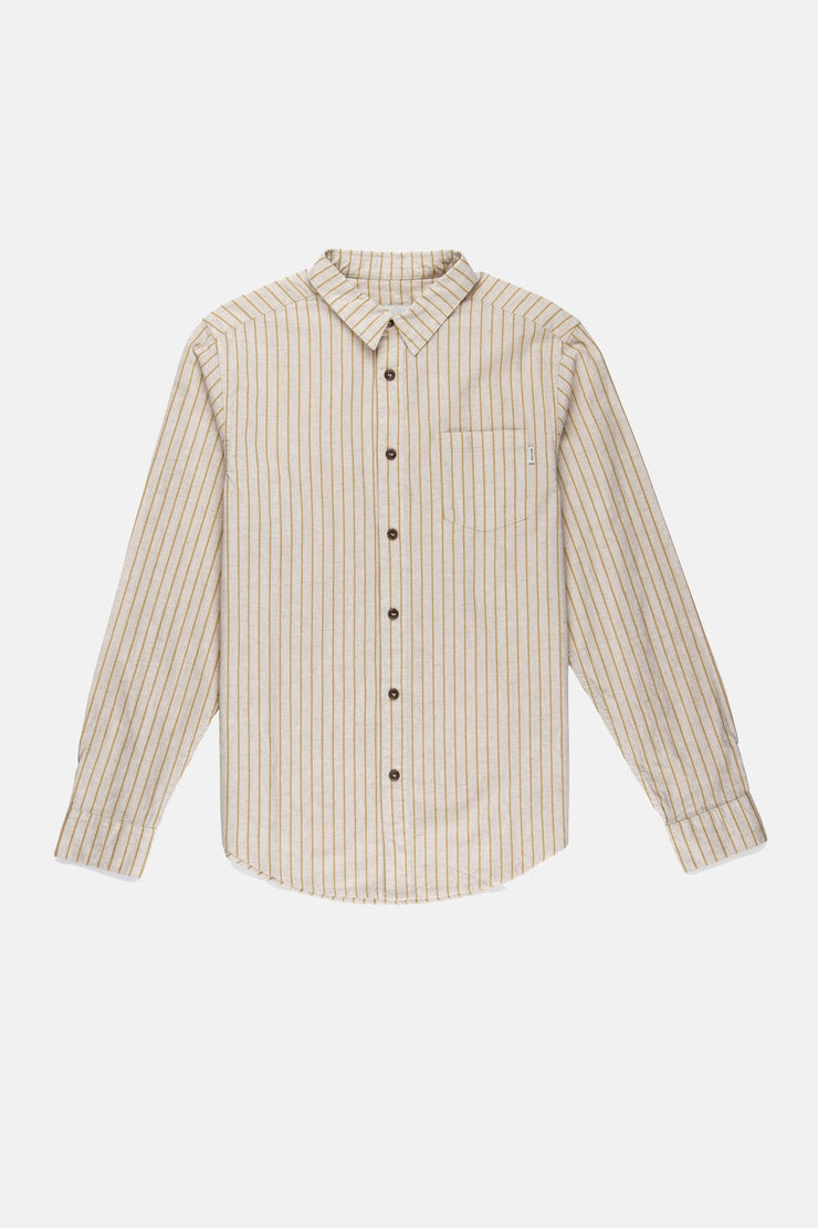 HIGHLINE STRIPE LS SHIRT BONE