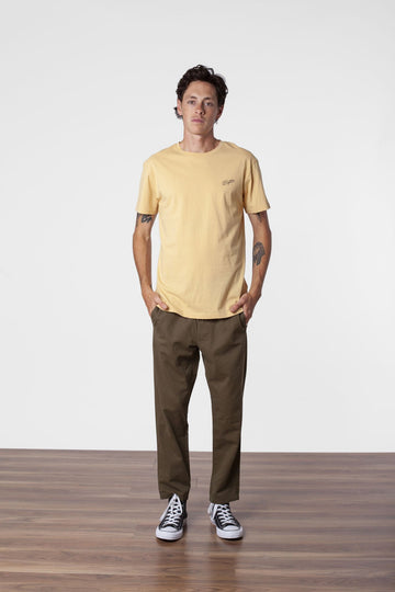 SCRIPT T SHIRT FADED YELLOW