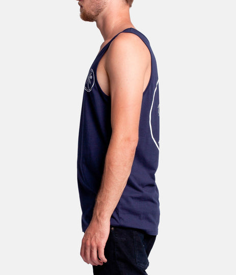 PALM DOWN SINGLET NAVY