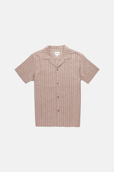 VACATION STRIPE SS SHIRT VINTAGE BROWN