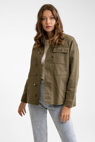Denim Military Anorak Khaki
