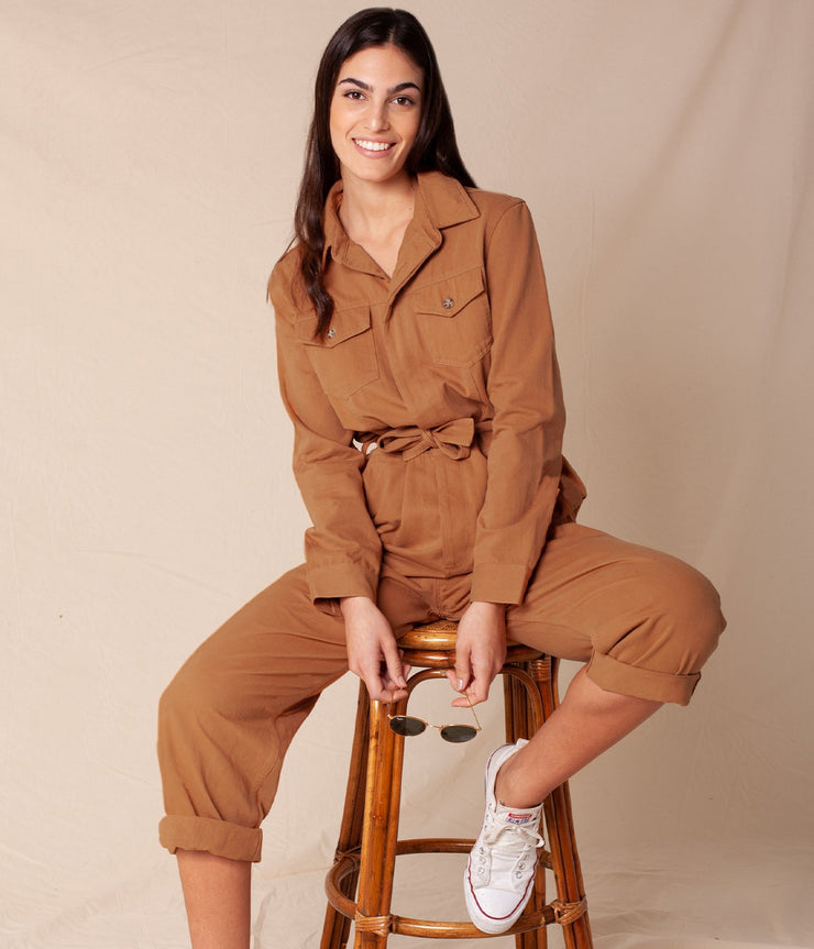 FIRST EDITION KIRA JUMPSUIT BRICK