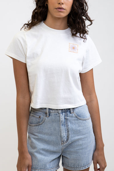 Summer Vintage Cropped T-Shirt Vintage White