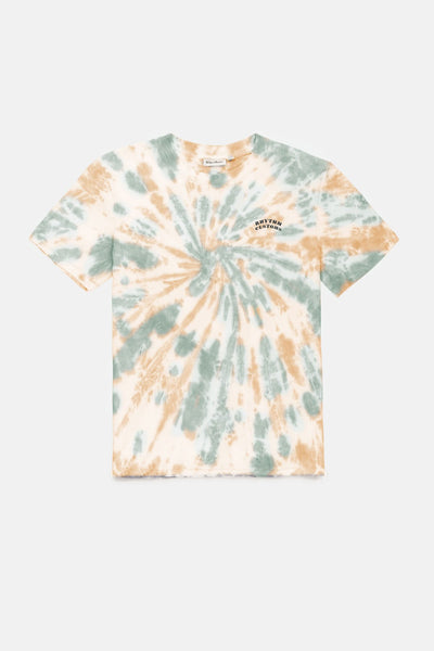 TIE DYE T SHIRT MINT ORANGE