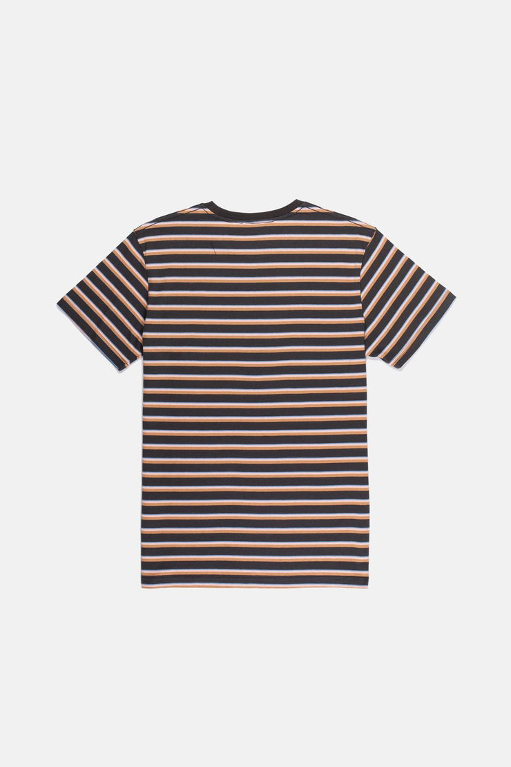 VINTAGE STRIPE T SHIRT CHARCOAL