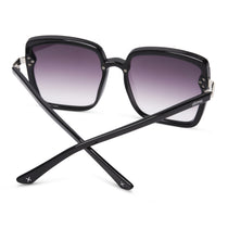 016 black and grey gradient polarized lens back