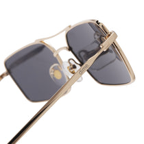 020 gold and grey polarized lens side