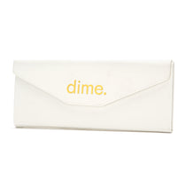 white triangle case with gold logo folded