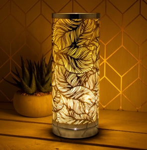 Leaf Touch Sensitive Aroma Lamp - Amber And Silver