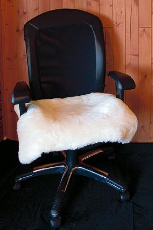 Sheep Wool Computer Chair Seat Cover - Soul Comfort