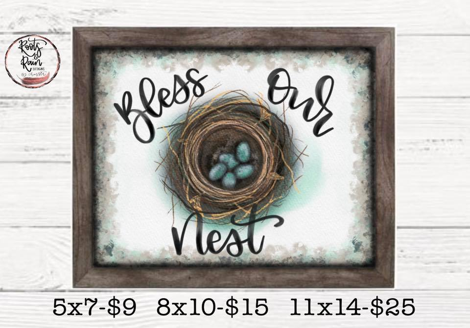 Bless Our Nest Print