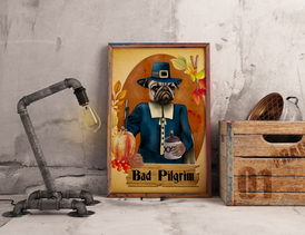 Ruddy Man Bad Pilgrim Print