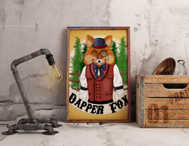 Ruddy Man Dapper Fox Print