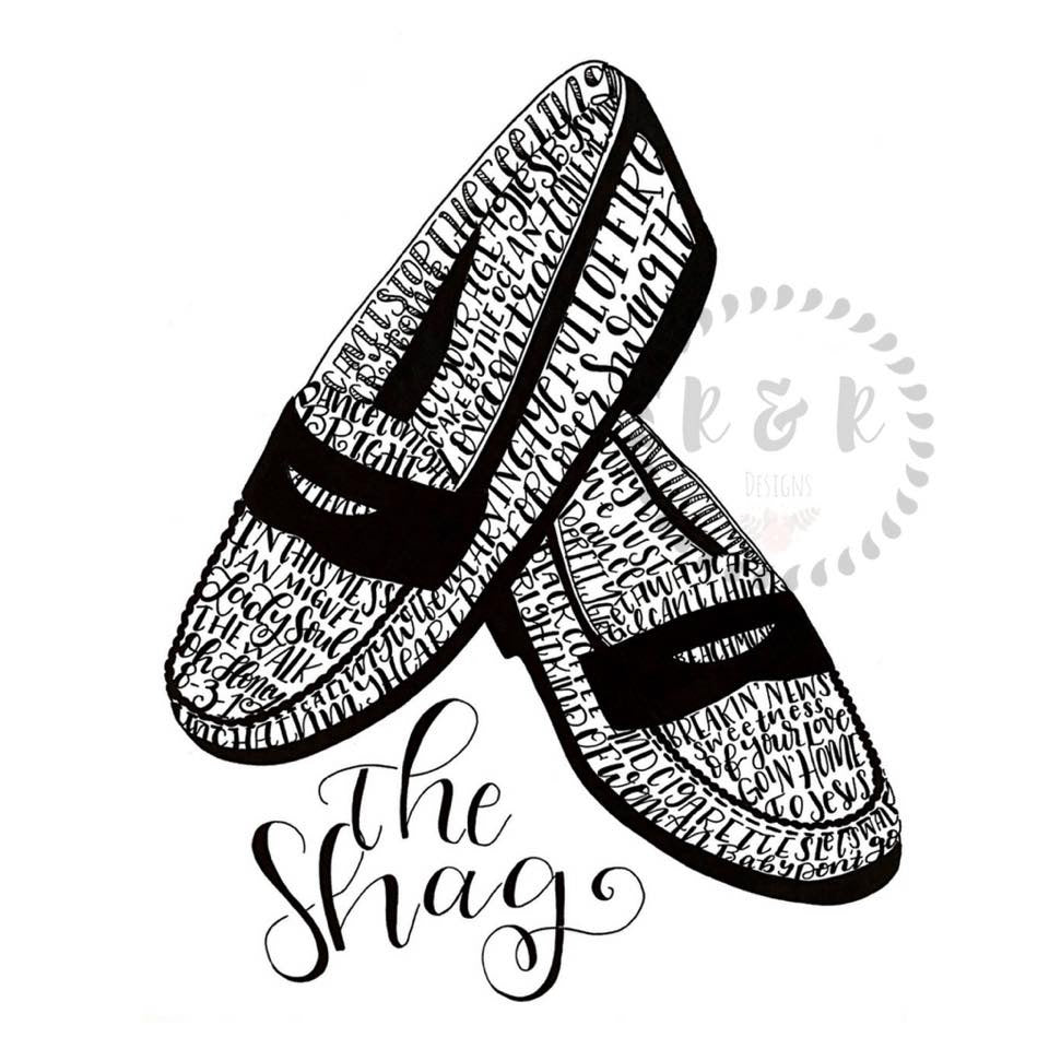 Shag Shoes Mosaic Print