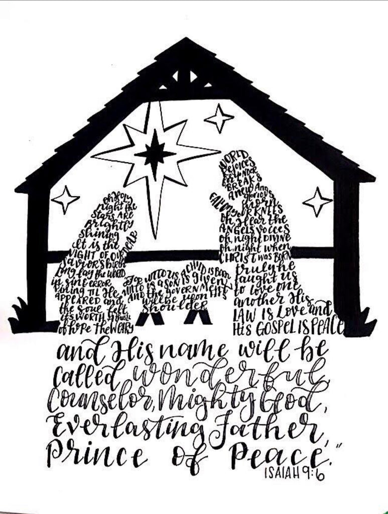 Nativity Wordart