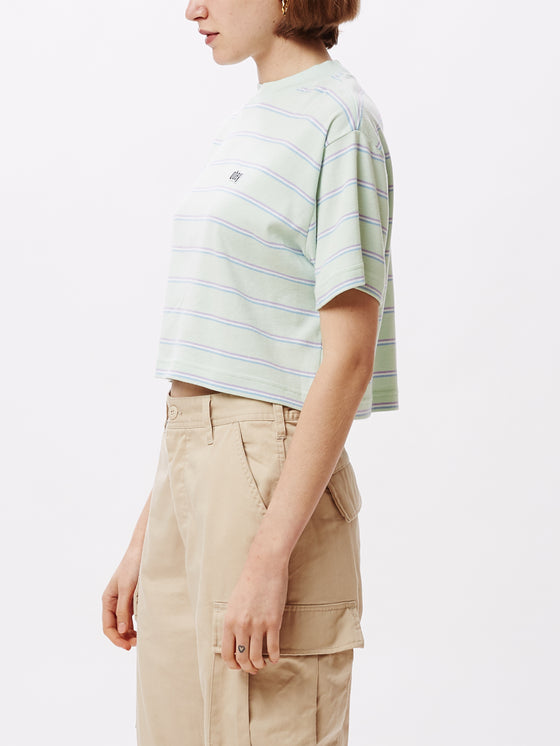 Ernie Cropped Mock Tee Mint