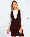 North Corduroy Jumper Dress RVCA