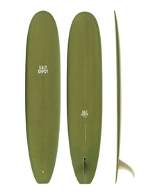 Salt Gypsea Dusty Retro Longboard Olive 9'-0""