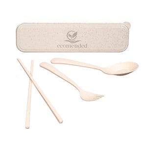 Wheat Fiber Travel Cutlery Set
