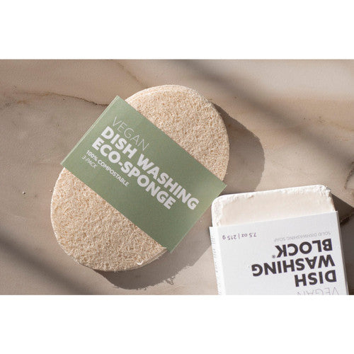 Biodegradable Eco-Sponges for Dish Washing 3-Pack