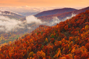 Autumn Mountains, Fall Landscape Photography Shenandoah National Park, Virginia, Blue Ridge Mountain Top, Mountain Photography