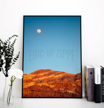 Load image into Gallery viewer, Southwest Photography, Desert Photography, Artists Palette California, Death Valley Moonrise, South West Photography, Desert Photo
