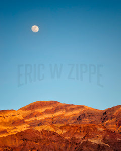 Southwest Photography, Desert Photography, Artists Palette California, Death Valley Moonrise, South West Photography, Desert Photo