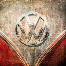 Load image into Gallery viewer, VW Bus Art, Retro Automobile Wall Art, Vintage Car, Volkswagen, Volkswagen Emblem, Car Photography, Fine Art Photography