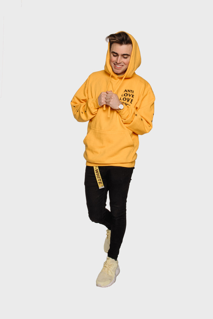 Yellow Anti Love Love Songs Hoodie (pre order)