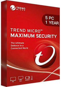 Trend Micro Maximum Security Multi Device - 5 Devices - 1 Year