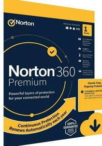 Norton 360 Premium - 1PC - 1 Year - 75GB Cloud Storage