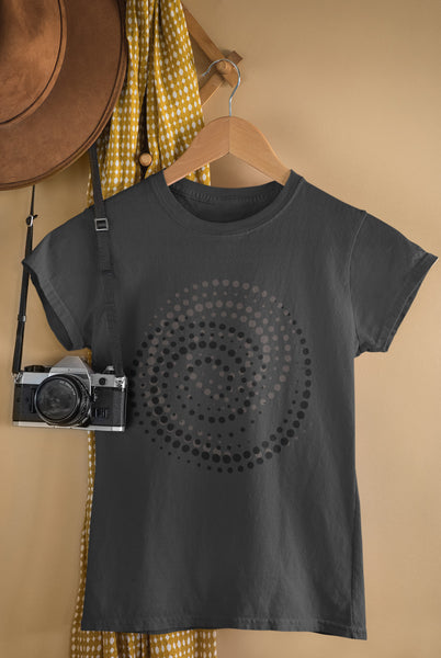 Infinity Spiral - Grey & Black - Ladies Crew Neck Tee