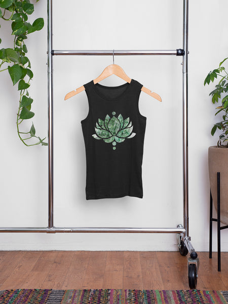 Green Ink Lotus Flower - Men's Summer Vest
