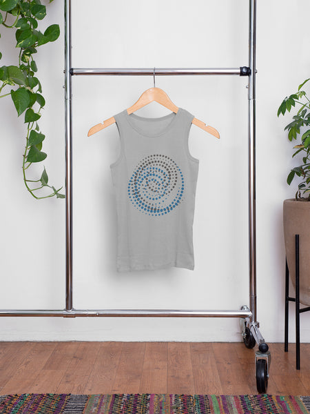 Infinity Spiral - Grey & Blue - Men's Summer Vest