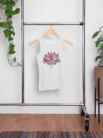 Red Ink Lotus Flower - Men's Summer Vest