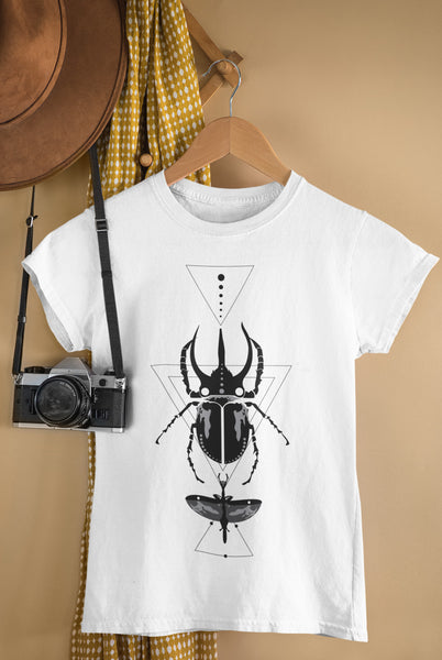 Bohemian Grey Beetle-Ladies Summer Crew T-Shirt