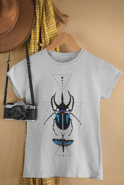 Bohemian Beetle-Ladies Summer Crew T-Shirt