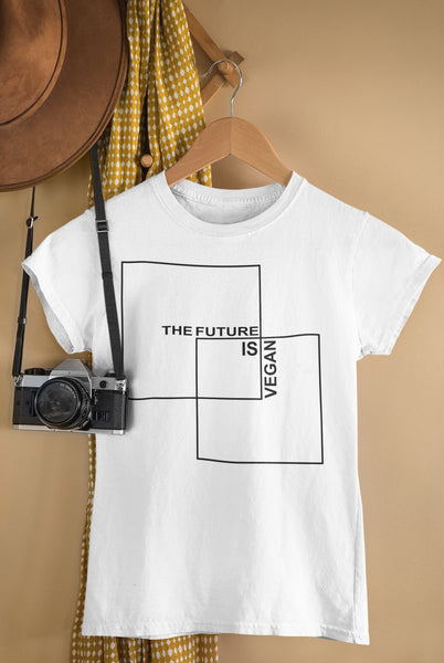 """The Future is Vegan"" Women's Summer Crew Neck"