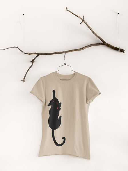 Walking Black Cat Unisex Summer Tee