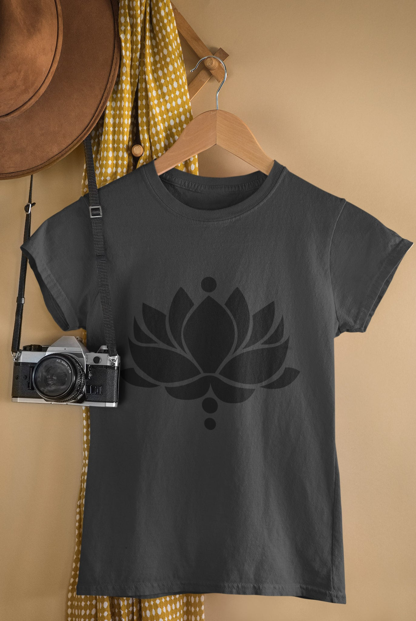 Lotus Flower - Ladies Crew Neck Tee