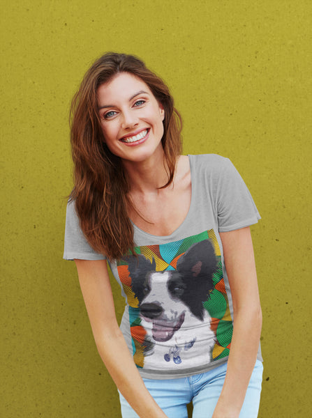 Pop Art Pets - Ladies Scoop Neck Tee