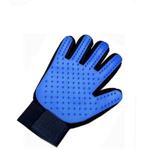 pet grooming gloves for cats in blue color