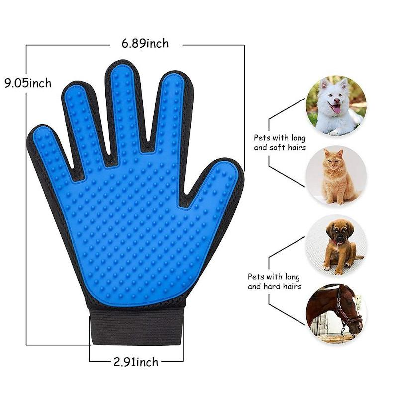 hands on pet grooming gloves for cats dimension