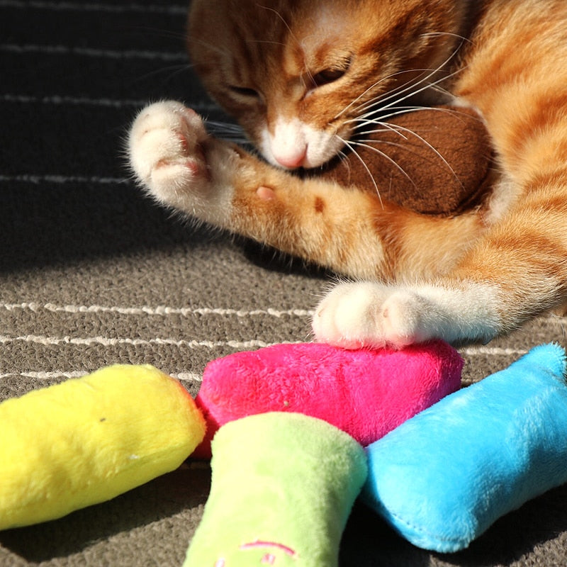Plush Catnip Toys For Cats in all colors