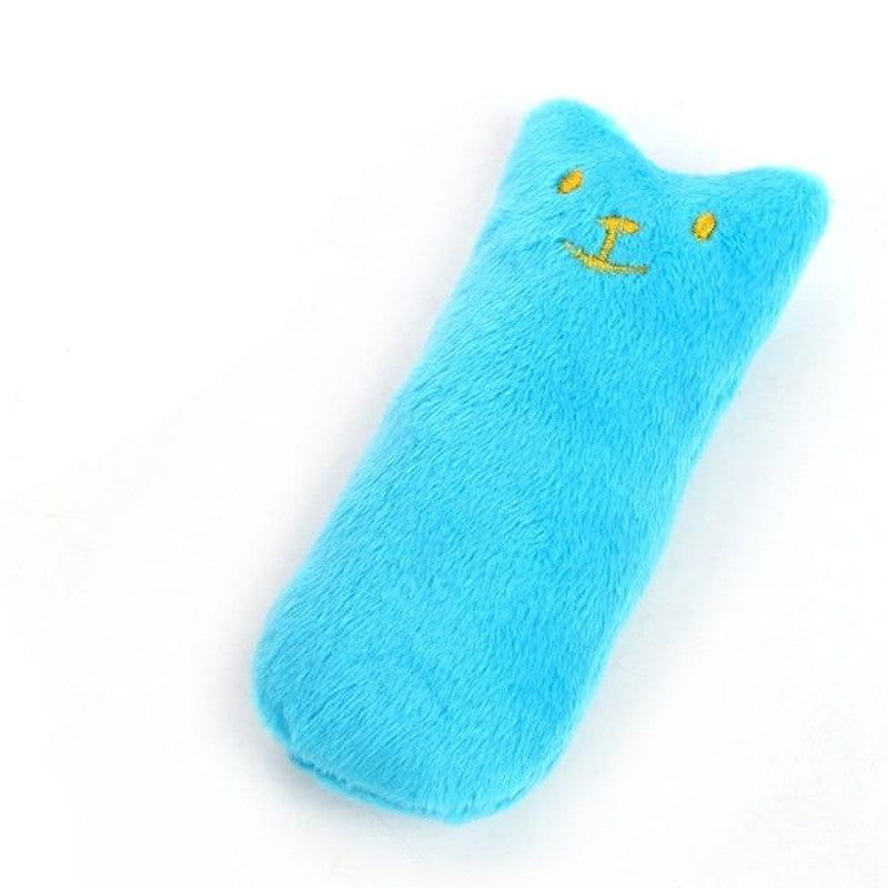 Plush Catnip Toys For Cats in blue color